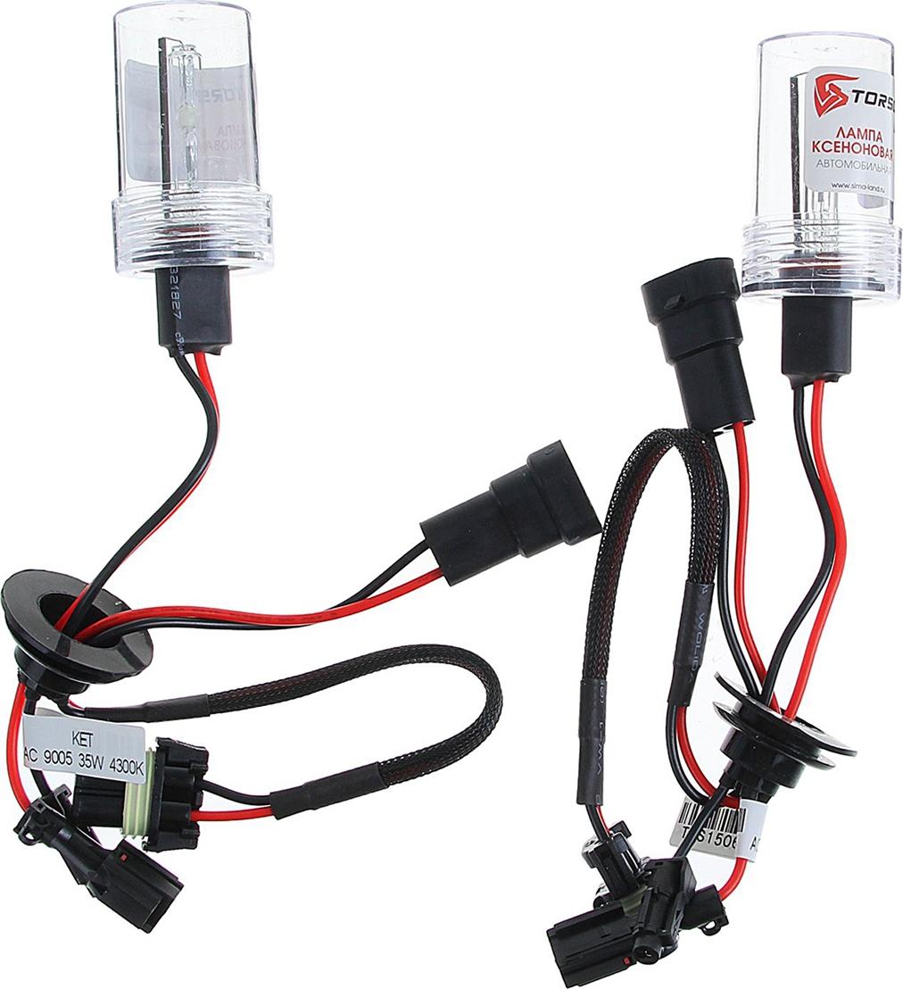 Комплект ксеноновых ламп Torso HB3 (9005), для блоков AC, 12 В, 4300 К, 2 шт. 1059369