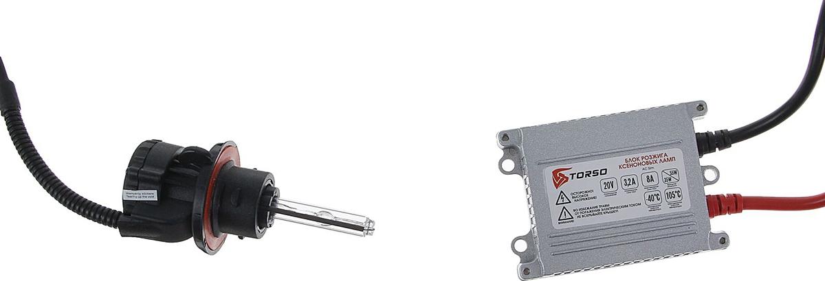 Комплект биксеноновых ламп Torso, блок розжига AC Slim, 35 Вт, 12 В, цоколь H13, 4300 К. 1059392