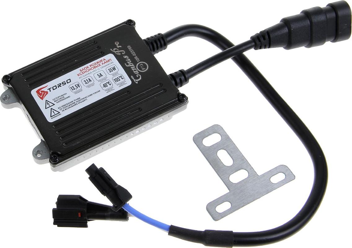 Блок розжига ксенона Torso АС CAN-BUS PRO, с обманкой, с проводами, 35 Вт, 12 В. 1059418