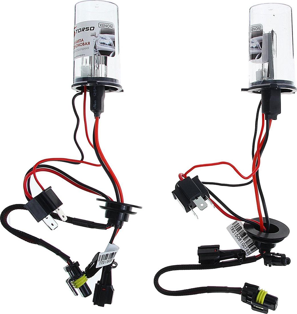 Комплект ксеноновых ламп Torso H4/L, с галогенной лампой, для блоков DC, 12 В, 5000 К, 2шт. 1059434