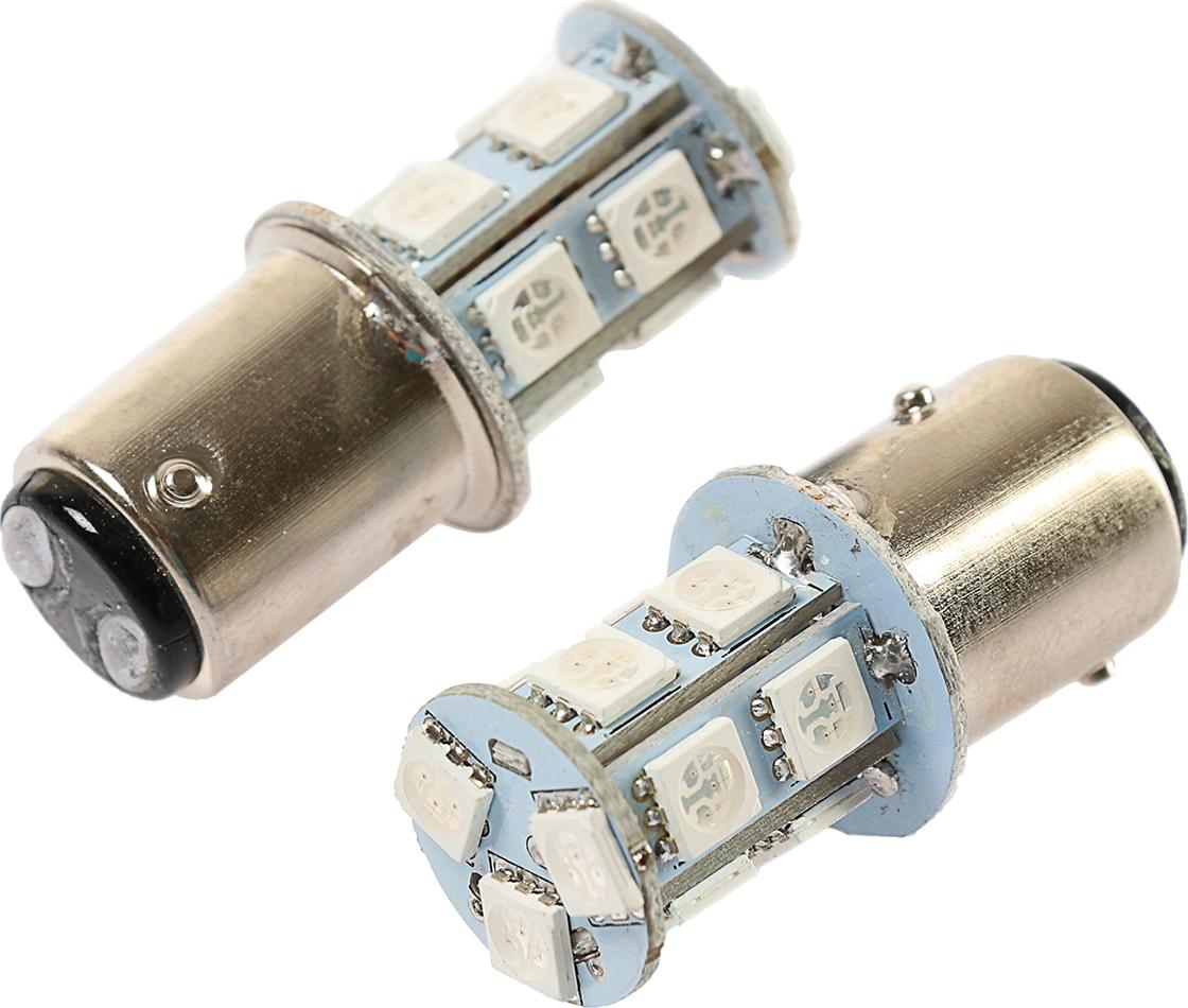 Комплект светодиодных ламп Torso FLASH P21/5W, 12 В, 13 SMD-5050, свет красный, 2 шт. 2612659