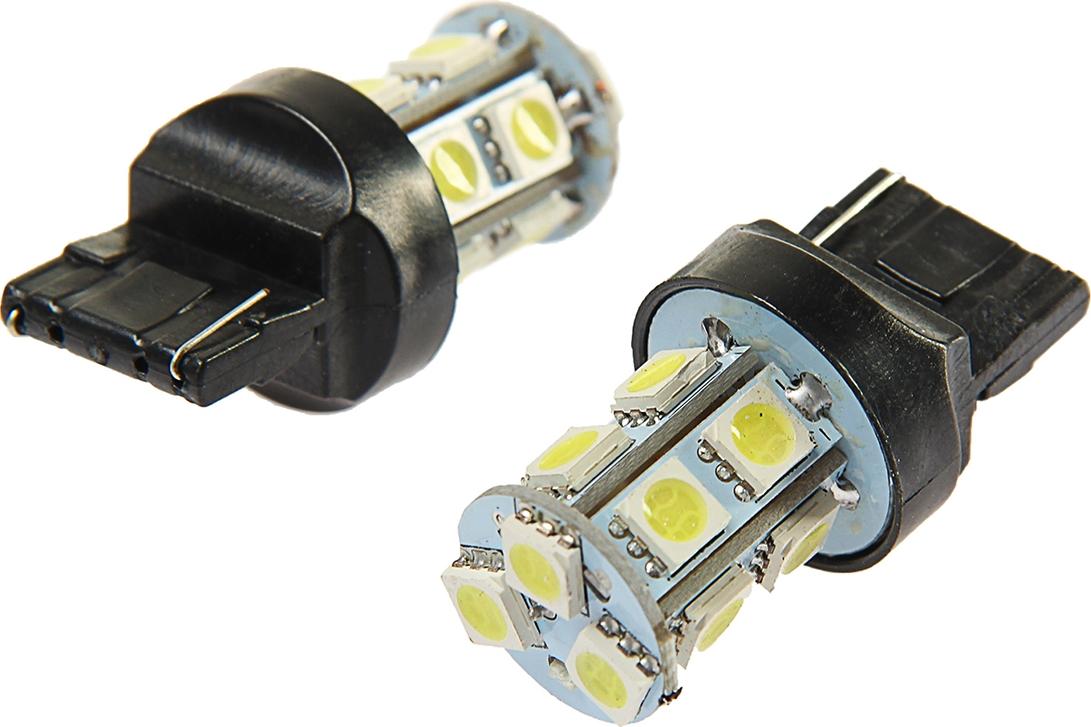 Комплект светодиодных ламп Torso Т20 (W21W, 7440), 12 В, 13 SMD-5050, свет белый, 2 шт. 2612663
