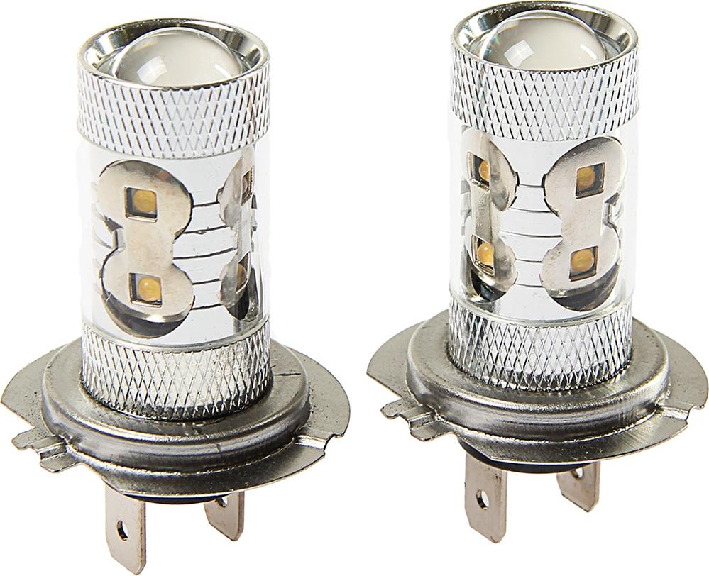 Комплект светодиодных ламп Torso H7, 50 Вт, 12 В, 1500 лм, 10 Epistar HP, свет белый, 2 шт. 2612670