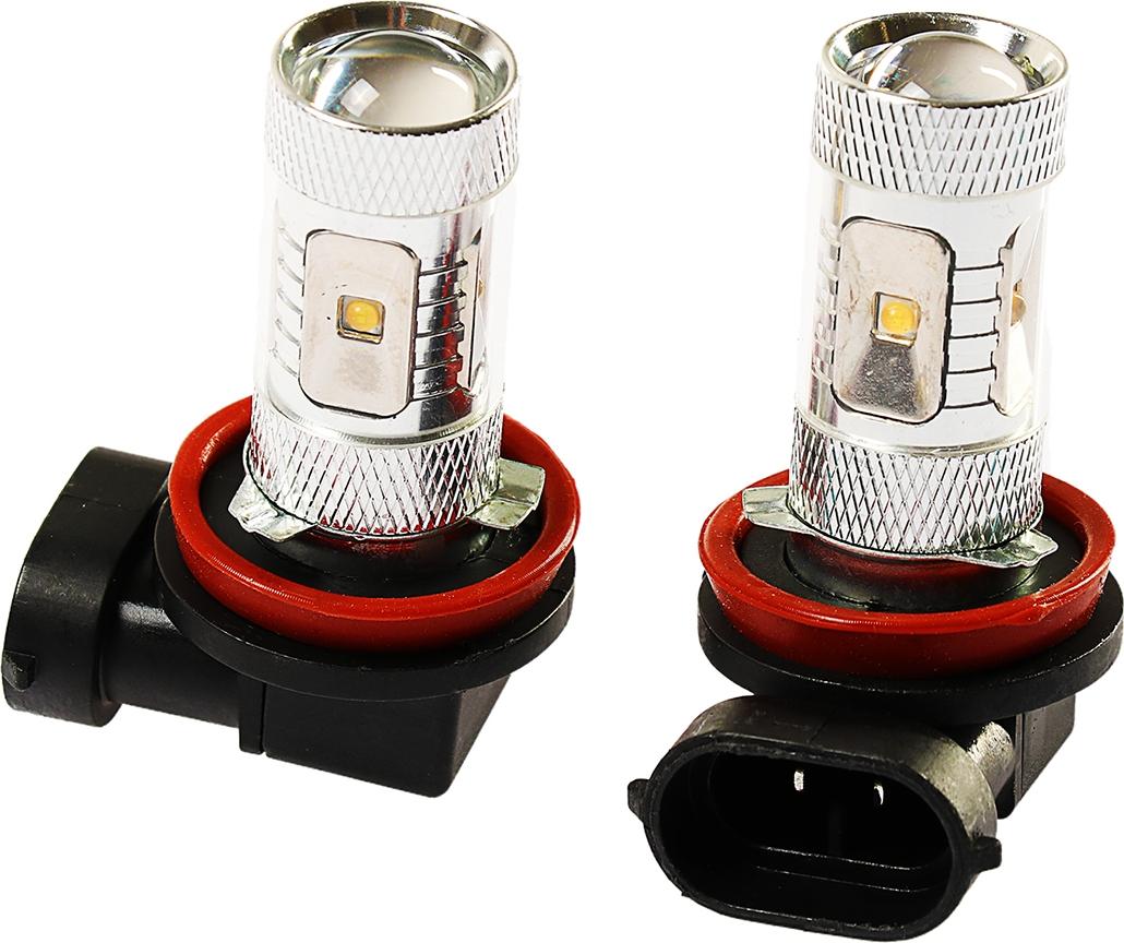 Комплект светодиодных ламп Torso H11, 30 Вт, 12 В, 900 лм, 6 Epistar HP, свет белый, 2 шт. 2612671