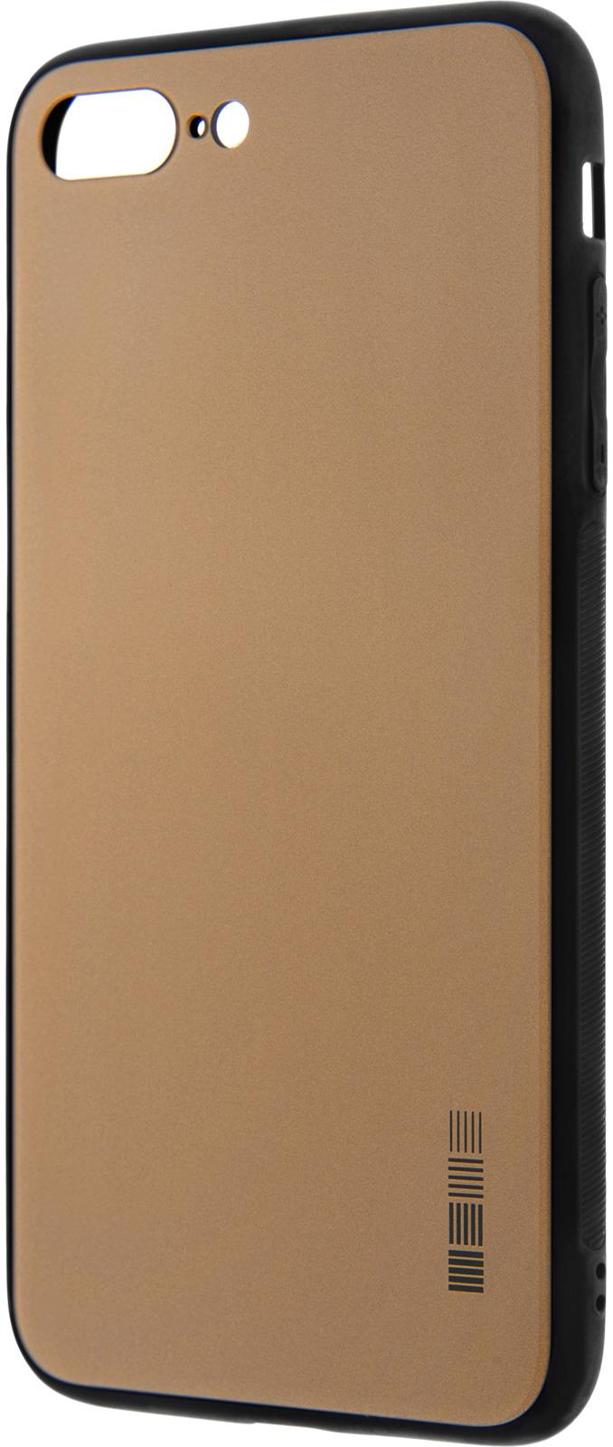 Чехол-накладка Interstep Is Glass для Apple iPhone 7/8 Plus, Gold чехол накладка interstep is bloom для apple iphone 7 8 plus turquoise