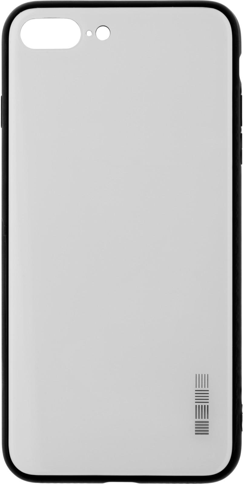 Чехол-накладка Interstep Is Glass для Apple iPhone 7/8 Plus, White чехол накладка interstep is bloom для apple iphone 7 8 plus turquoise