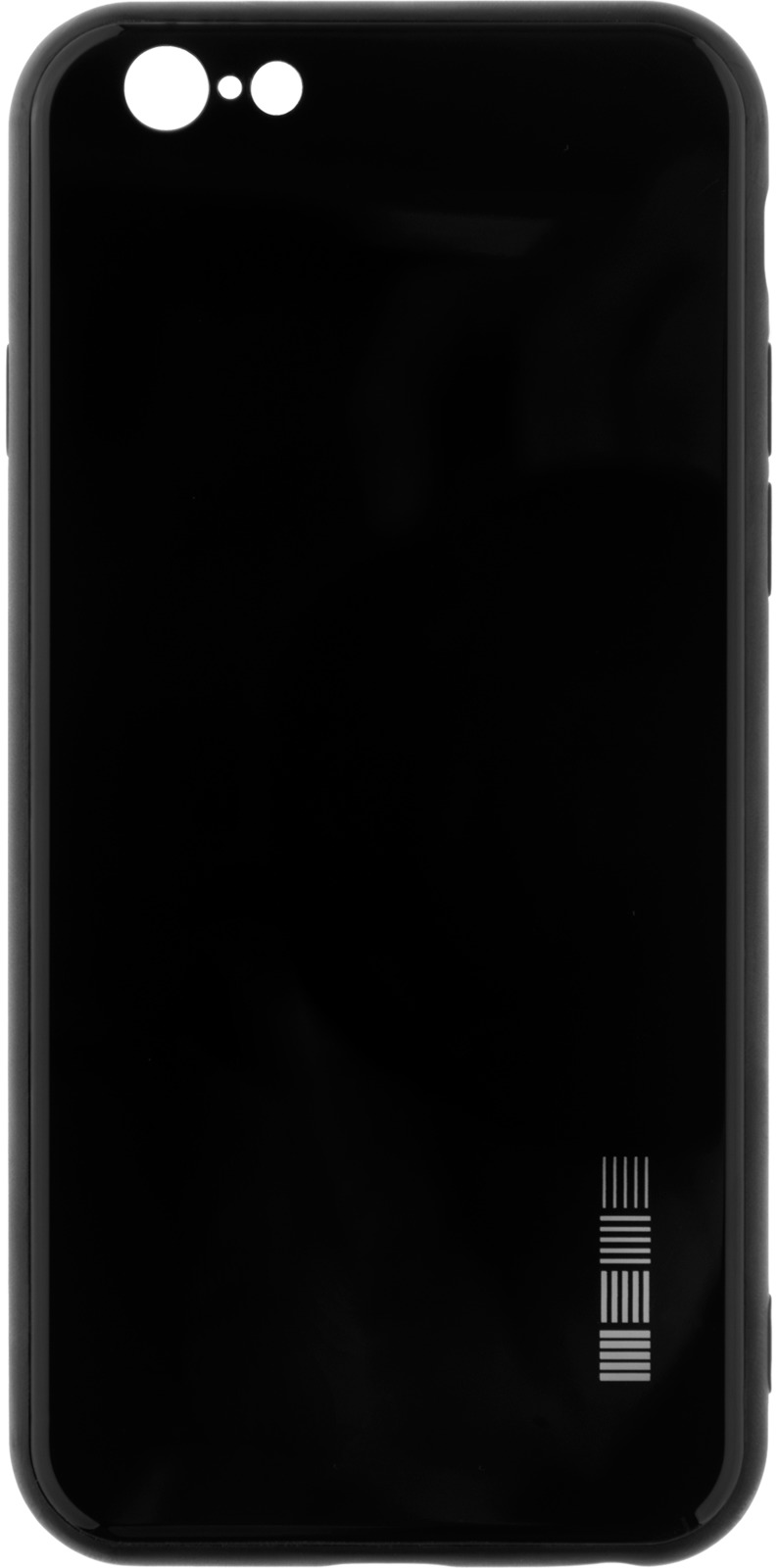 Чехол-накладка Interstep Is Glass для Apple iPhone 6/6S, Black чехол накладка interstep is glass для apple iphone x red