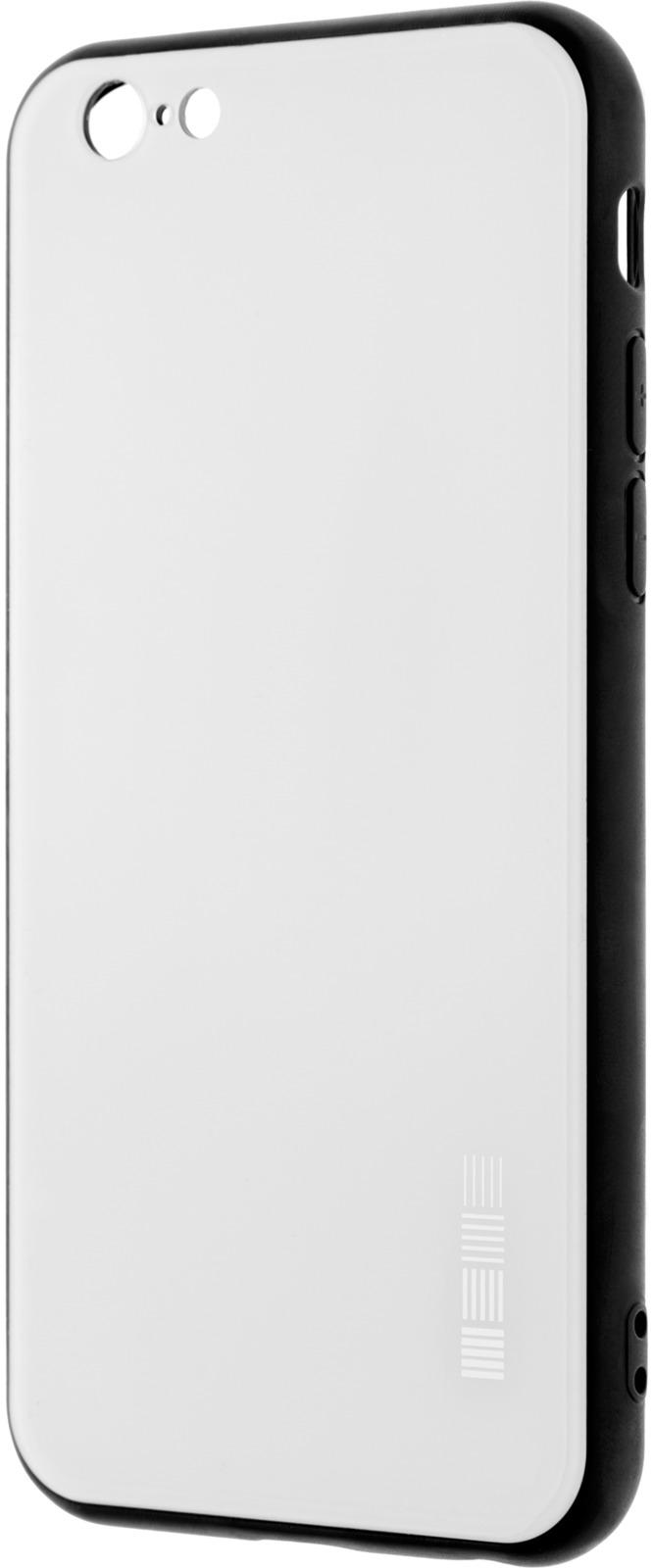 Чехол-накладка Interstep Is Glass для Apple iPhone 6/6S, White чехол накладка interstep is glass для apple iphone x red