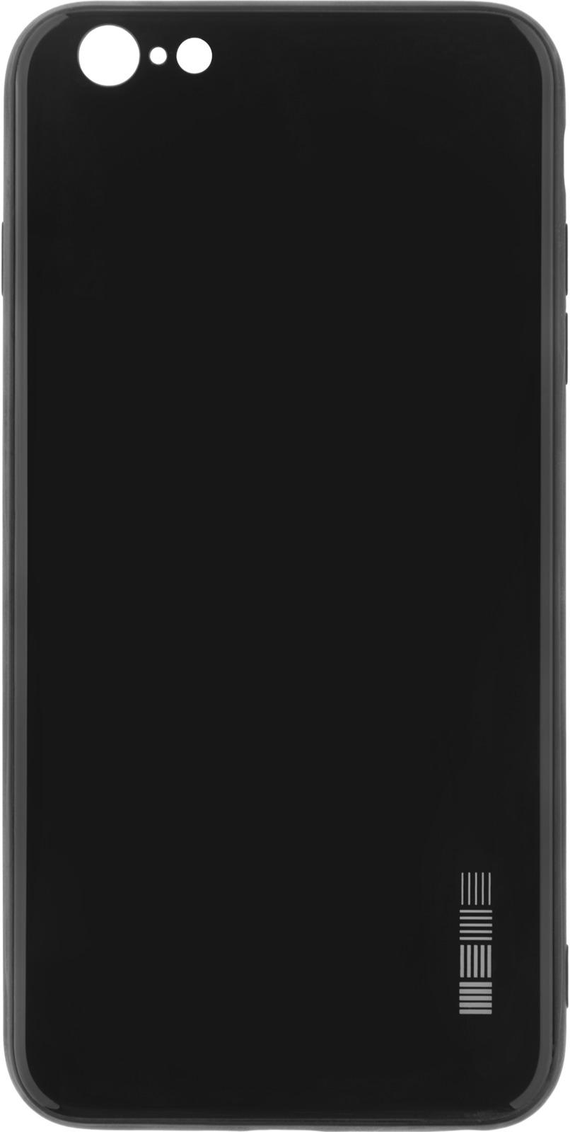 Чехол-накладка Interstep Is Glass для Apple iPhone 6/6S Plus, Black чехол накладка interstep is glass для apple iphone x red