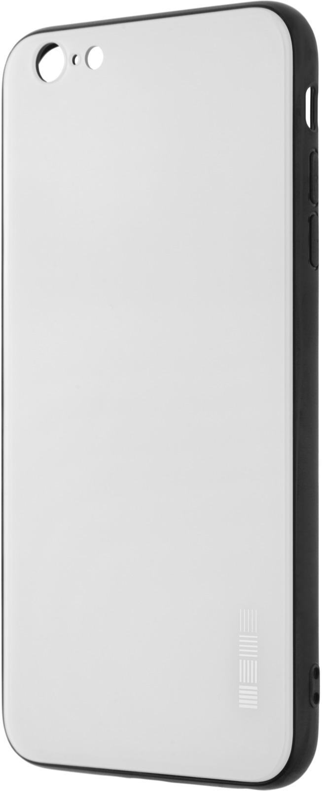 Чехол-накладка Interstep Is Glass для Apple iPhone 6/6S Plus, White чехол накладка interstep is glass для apple iphone x red