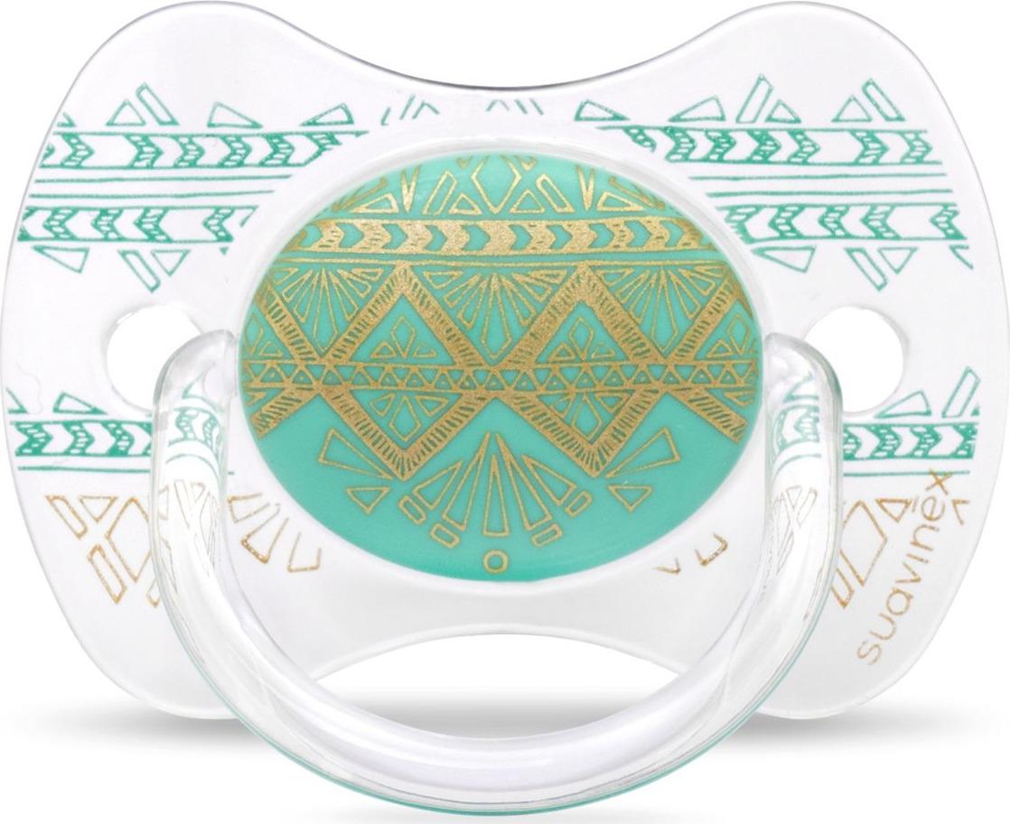 Пустышка Suavinex Haute Couture, от 0-4 месецев, с силиконовой физиологической соской, цвет: зеленый suavinex с физиологической соской латекс 18 мес 2 шт