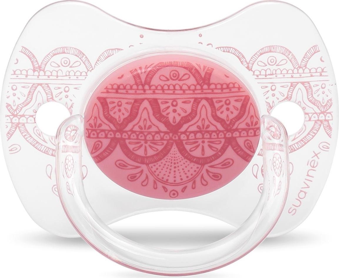 Пустышка Suavinex Haute Couture, от 0-4 месецев, с силиконовой физиологической соской, цвет: розовый suavinex с физиологической соской латекс 18 мес 2 шт
