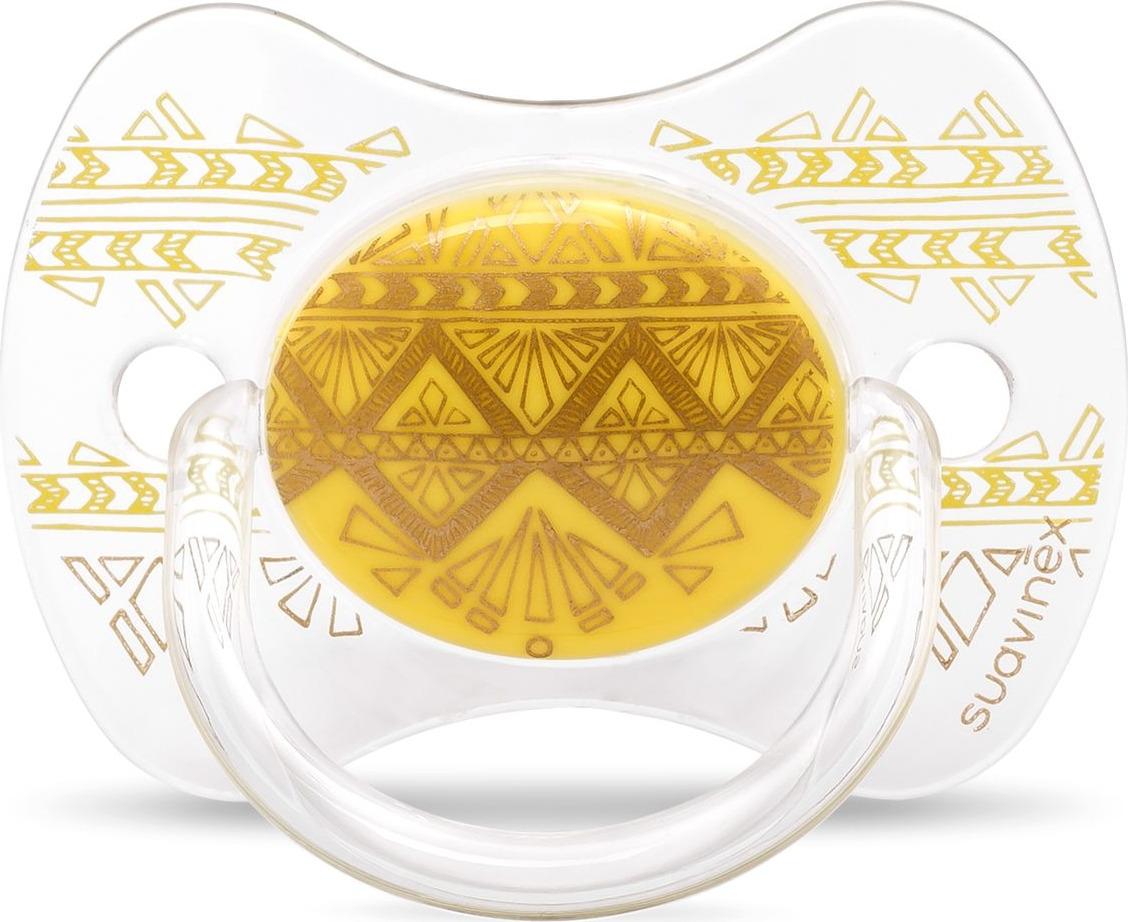 Пустышка Suavinex Haute Couture, от 18 месяцев, с силиконовой физиологической соской, 3162100, желтый