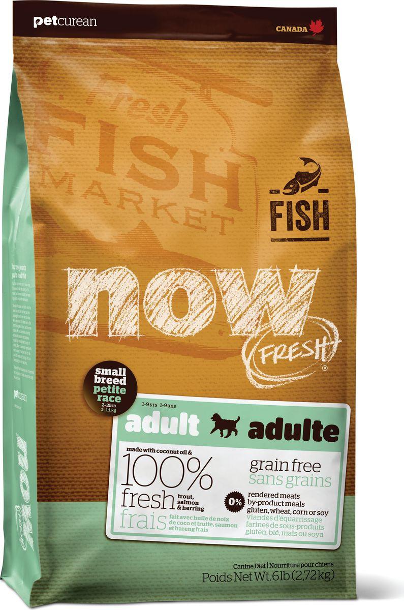 все цены на Корм сухой Now Fresh, для взрослых собак малых пород, беззерновой, с форелью, лососем и овощами, 5,45 кг онлайн