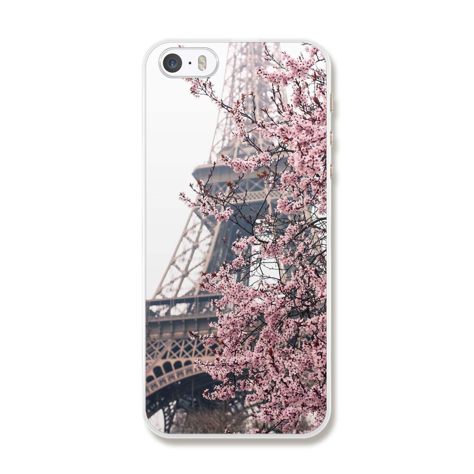 "Чехол Boom Case ""Сакура в Париже"", для iPhone 5/5S/SE"