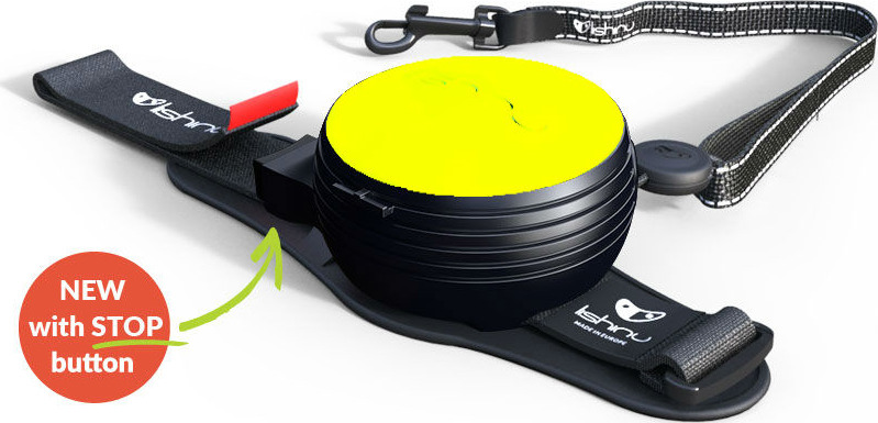"""Поводок-рулетка Lishinu """"Ориджинал"""", цвет: неоновый желтый, размер XS, для собак 2-6 кг"""
