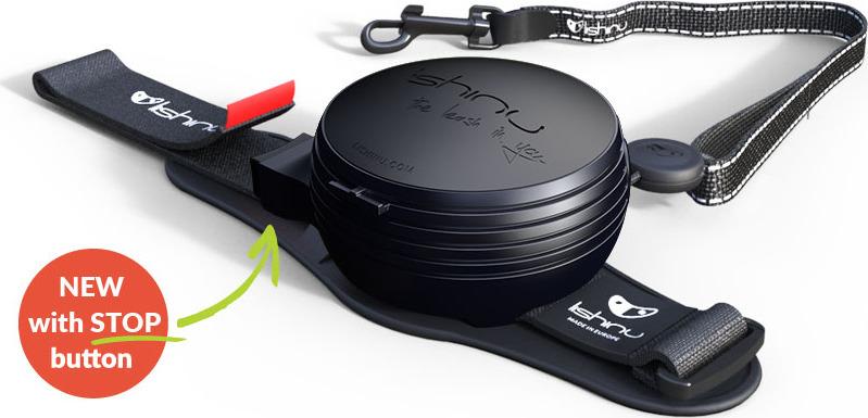 """Поводок-рулетка Lishinu """"Ориджинал"""", цвет: черный, размер S, для собак 6-12 кг"""