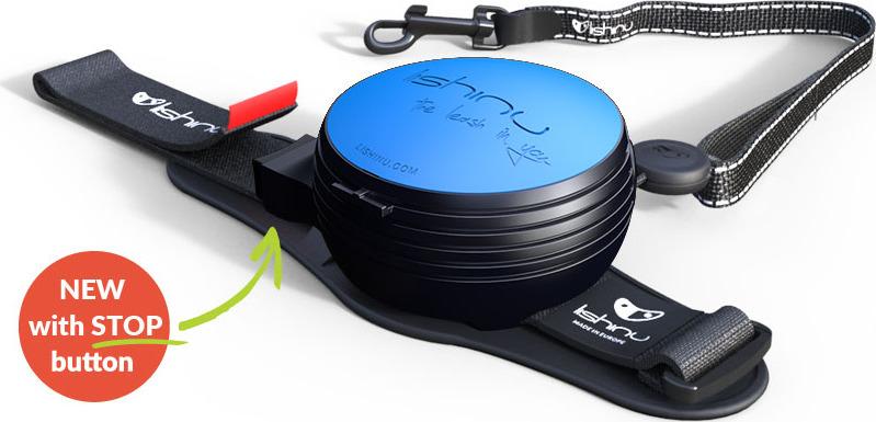 """Поводок-рулетка Lishinu """"Ориджинал"""", цвет: голубой, размер S, для собак 6-12 кг"""