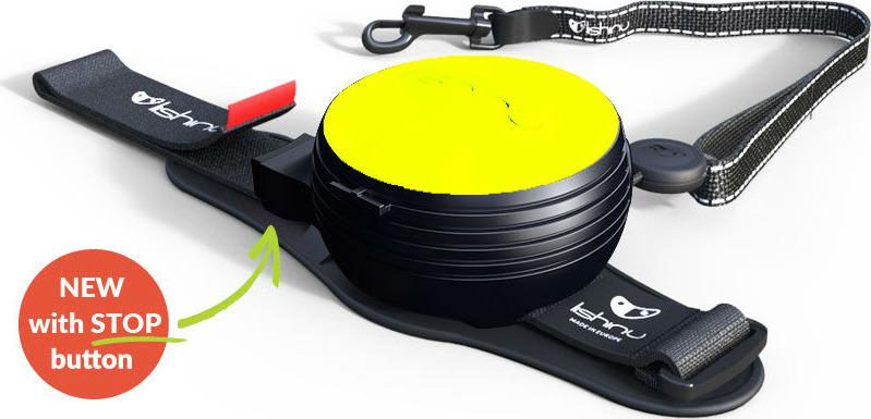 """Поводок-рулетка Lishinu """"Ориджинал"""", цвет: неоновый желтый, размер M собак 12-35 кг"""