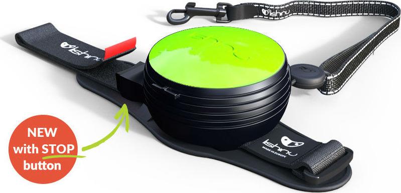 """Поводок-рулетка Lishinu """"Ориджинал"""", цвет: неоновый зеленый, размер XS, для собак 2-6 кг"""