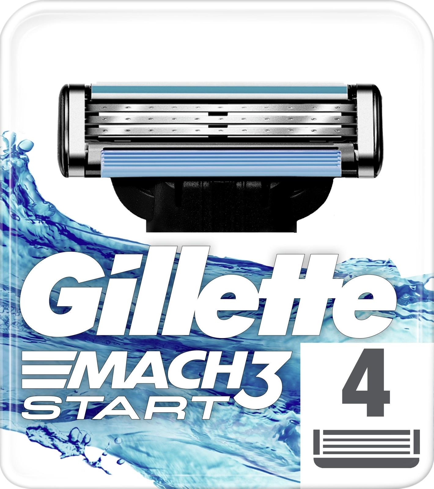 Gillette Mach3 Start Сменные Кассеты Для Бритвы, 4 шт