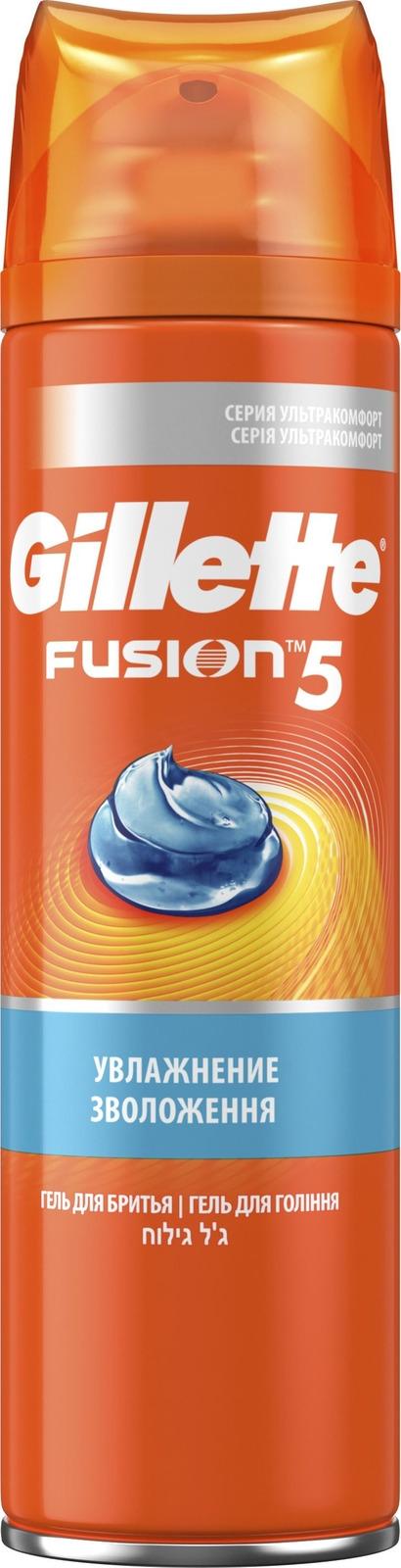 Гель Для Бритья Gillette Fusion5 Ultra Moisturizing, 200 мл мужской гель для бритья gillette fusion5 ultra sensitive 75 мл