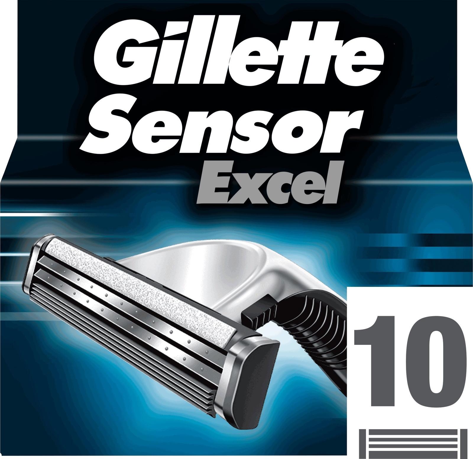 Сменные кассеты Gillette SensorExcel, 10 шт