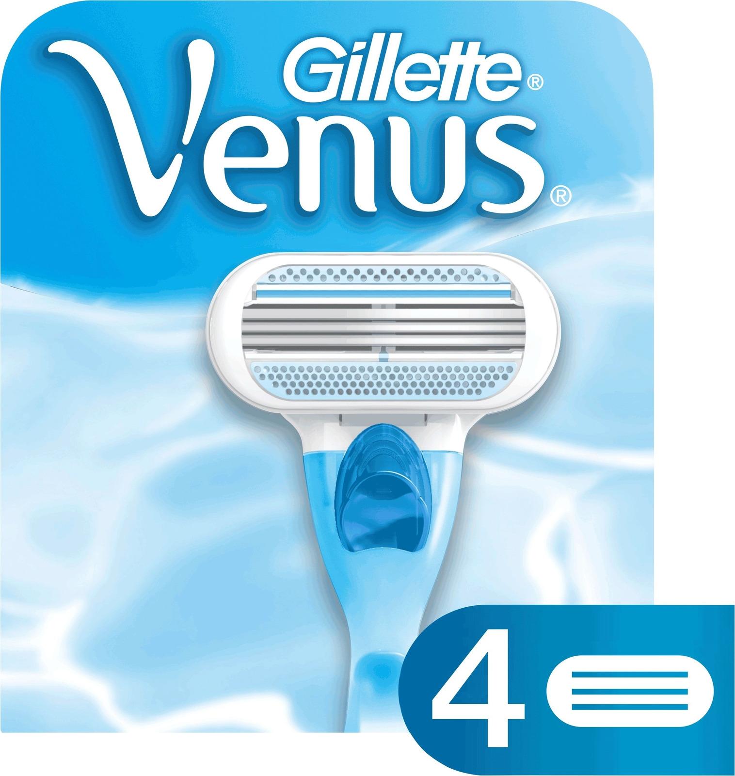 Сменные кассеты для бритья VENUS , 4 шт одноразовые бритвы для женщин gillette venus 3 3шт