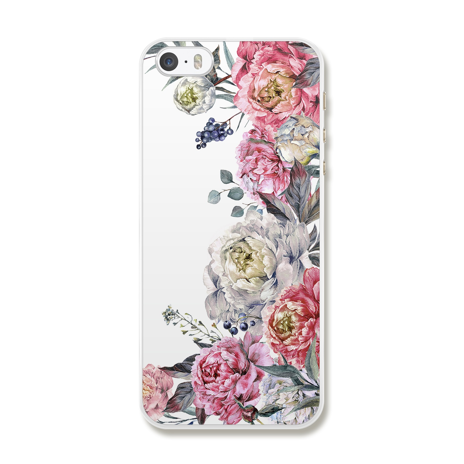 """Чехол для iPhone 5/5S/SE """"Цветы"""""""