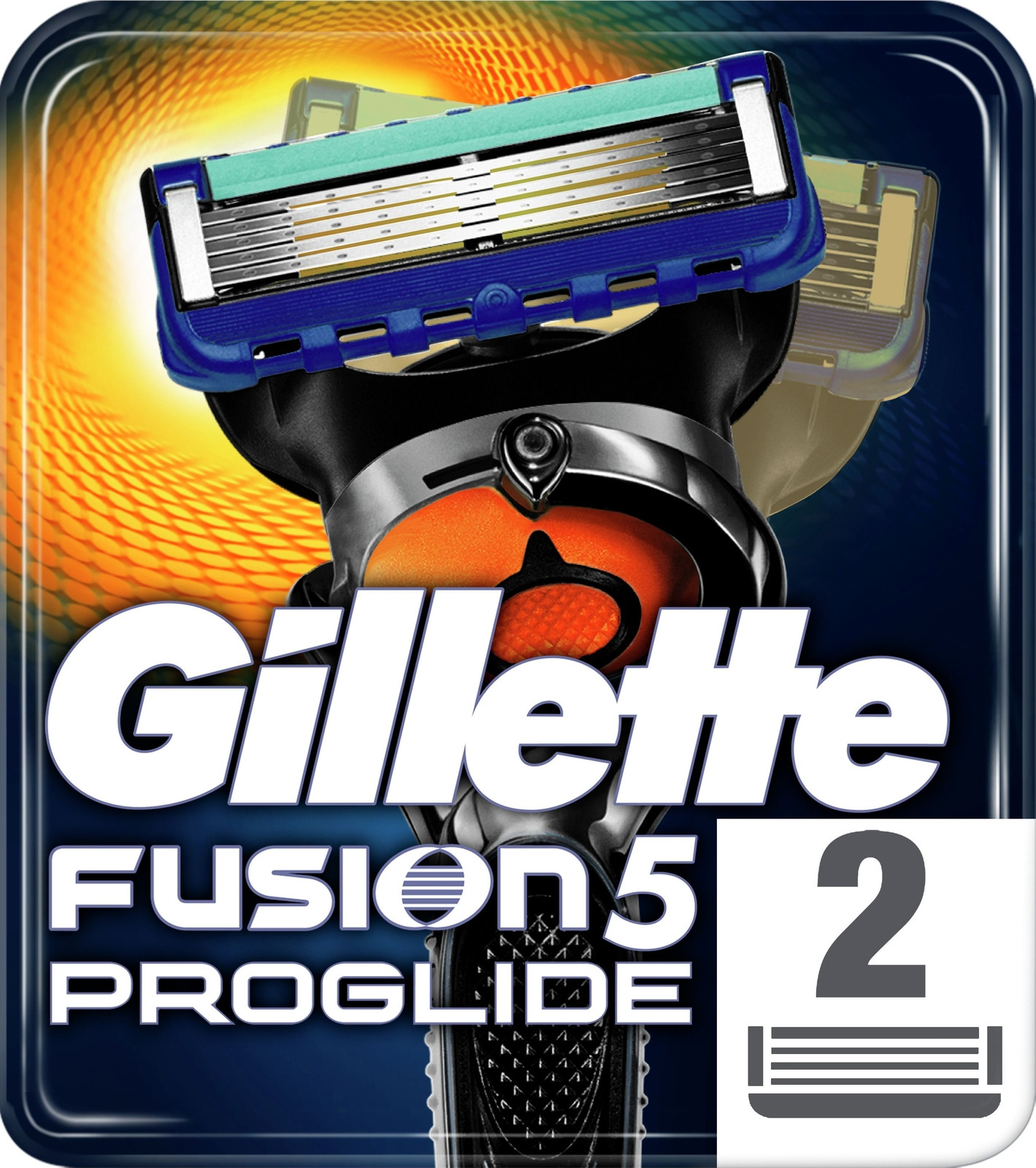 Gillette Fusion5 ProGlide Сменные Кассеты Для Мужской Бритвы С Технологией FlexBall, Повторяющей Контуры Лица, 2 Кассеты