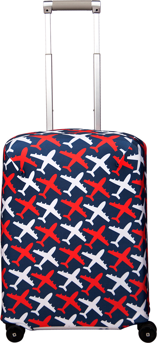 Чехол для чемодана Routemark Avion, цвет: синий, размер S (50-55 см) чехол для чемодана routemark ромбик в красном цвет красный