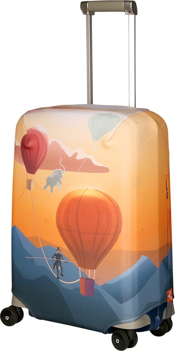 Чехол для чемодана Routemark Bristol, цвет: желтый, размер S (50-55 см) чехол для чемодана routemark ромбик в красном цвет красный