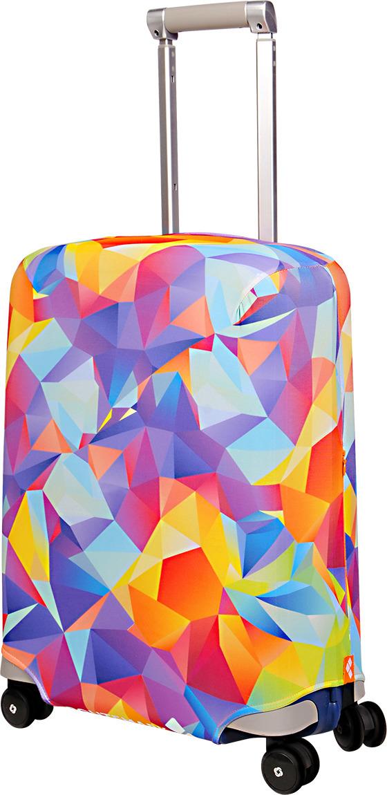 Чехол для чемодана Routemark Fable, цвет: мультиколор, размер S (50-55 см) чехол для чемодана routemark ромбик в красном цвет красный