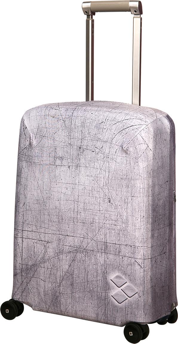 Чехол для чемодана Routemark Silverstone, цвет: серый, размер S (50-55 см) чехол для чемодана routemark ромбик в красном цвет красный