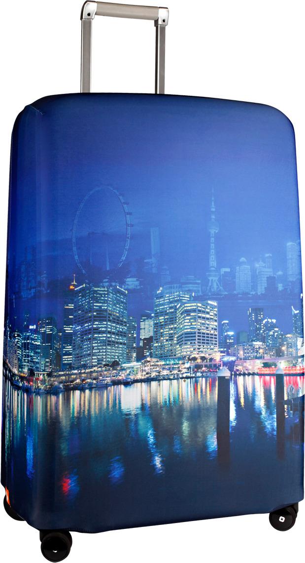 Чехол для чемодана Routemark Voyager, цвет: синий, размер L/XL (75-85 см) чехол для чемодана routemark ромбик в красном цвет красный