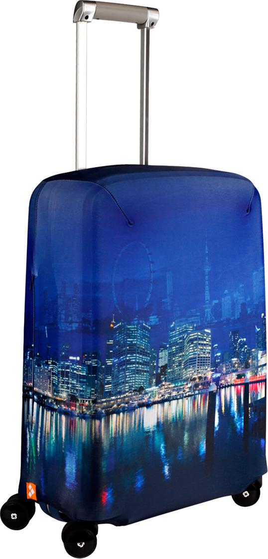Чехол для чемодана Routemark Voyager, цвет: синий, размер S (50-55 см) чехол для чемодана routemark atla цвет мультиколор размер m l 65 74 см