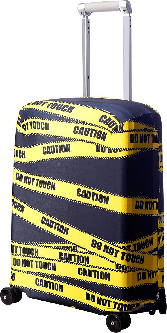 Чехол для чемодана Routemark Даже не щупать, цвет: черный, размер S (50-55 см) чехол для чемодана routemark ромбик в красном цвет красный