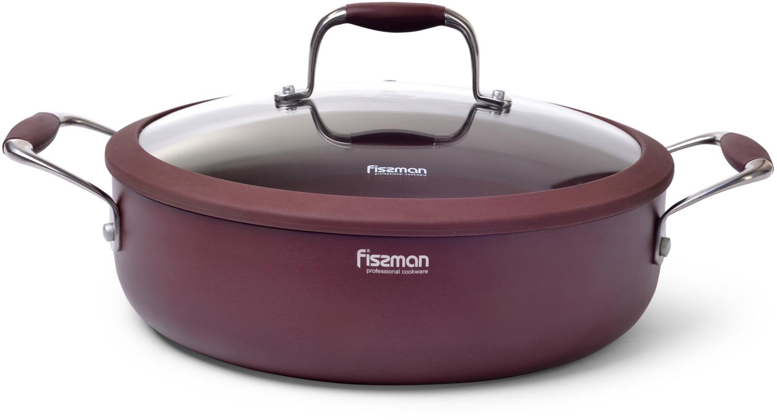 Сотейник Fissman Aventurine, с крышкой, с антипригарным покрытием. Диаметр 26 см сковорода fissman prestige с антипригарным покрытием диаметр 26 см
