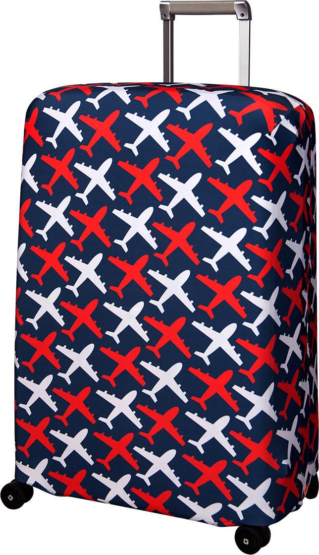 Чехол для чемодана Routemark Avion, цвет: синий, размер L/XL (75-85 см) чехол для чемодана routemark ромбик в красном цвет красный