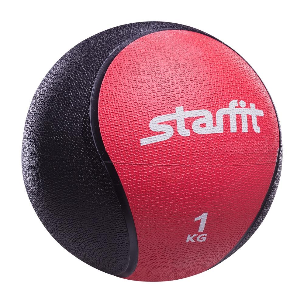 Мяч для фитнеса Starfit Медбол PRO GB-702, 1 кг, красный