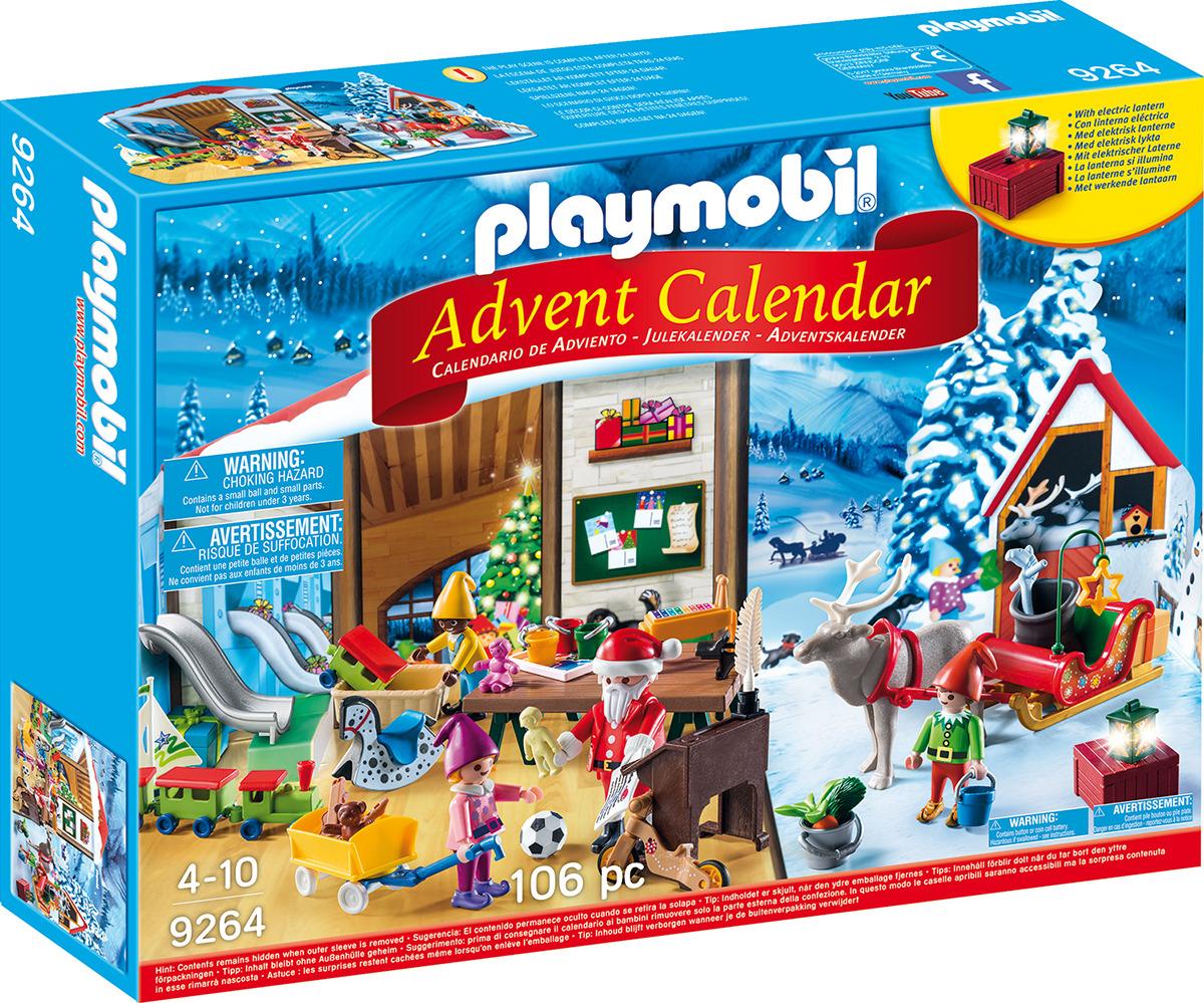 Игровой набор Playmobil Адвент-календарь. Мастерская Санта-Клауса