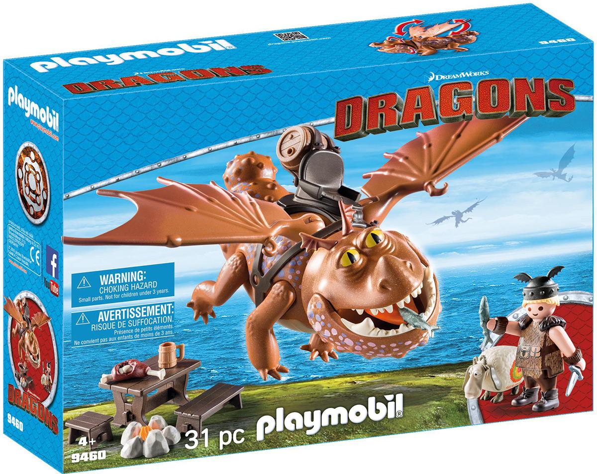 Игровой набор Playmobil Драконы Рыбьеног и Сарделька, 9460pm9460pmЗабавный конструктор «Рыбьеног и Сарделька» от компании Playmobil состоит из 31 детали и подходит для детей старше 4 лет. Кроме двух главных героев (рыцаря и его дракона) в игровом наборе имеется множество аксессуаров, позволяющих сделать игру более увлекательной и реалистичной. Рыбьенога можно усадить на дракона, а в руки ему можно дать меч, рыбу или другой аксессуар. Дракон Сарделька может шевелить лапами и крыльями, крутить головой и открывать пасть. Рекомендуем!