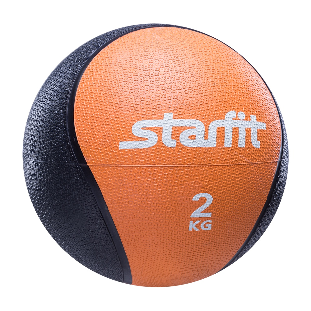 Мяч для фитнеса Starfit Медбол PRO GB-702, 2 кг, оранжевый