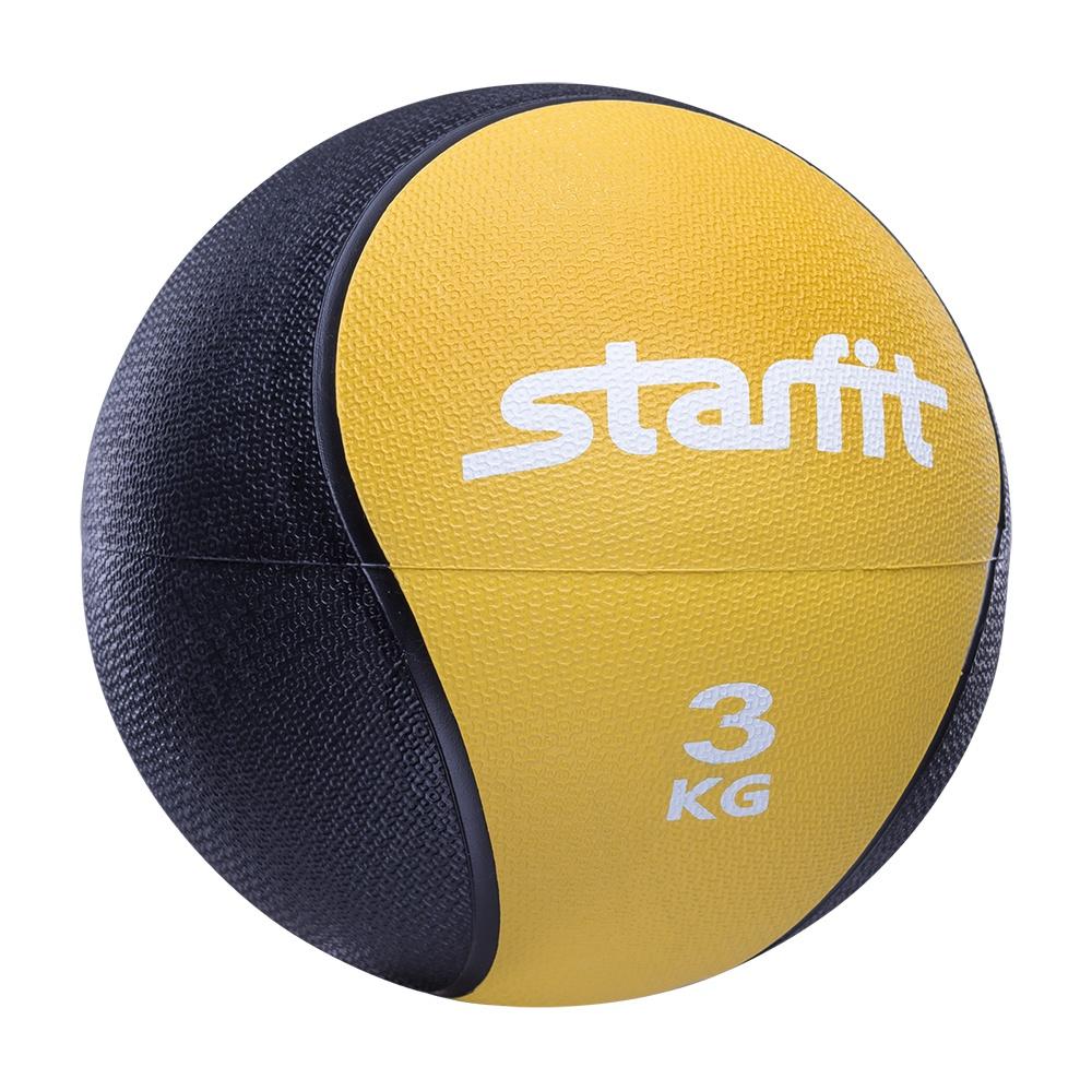 Мяч для фитнеса Starfit Медбол PRO GB-702, 3 кг, желтый