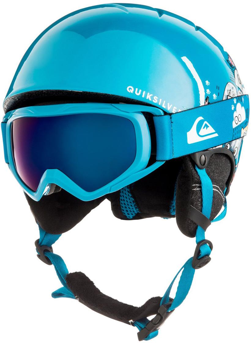 Шлем для горных лыж и сноуборда QUILSILVER GAME PACK B HLMT BQC1, цвет: синий. Размер 52 маска для сноуборда quiksilver qs rc black