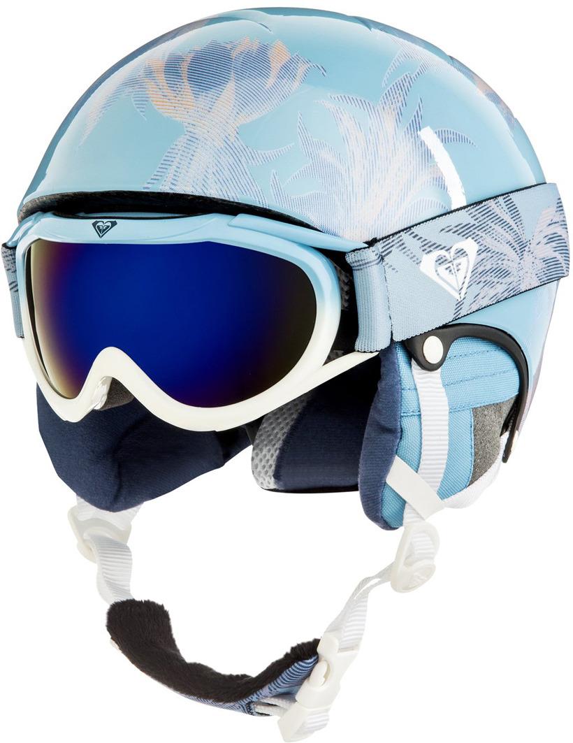 Шлем для горных лыж и сноуборда Roxy MISTY GIRL PCK G HLMT BGB1, цвет: синий. Размер 56ERGTL03001-BGB1_56Прочный шлем облегченной конструкции In-Mold, дополненный маской со сферической линзой. Roxy Misty является действительно практичным выбором, гарантирующим полную совместимость двух важных компонентов - маски и шлема. Внутри шлема предусмотрены вентиляционные отверстия и внутренние каналы в слое EPS, а сферическая линза маски покрыта специальным средством, предотвращающим запотевание и появление царапин.