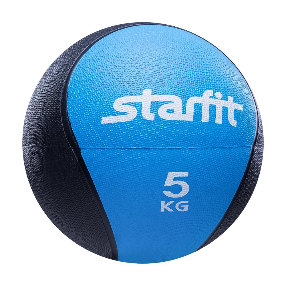 Мяч для фитнеса Starfit Медбол PRO GB-702, 5 кг, синий
