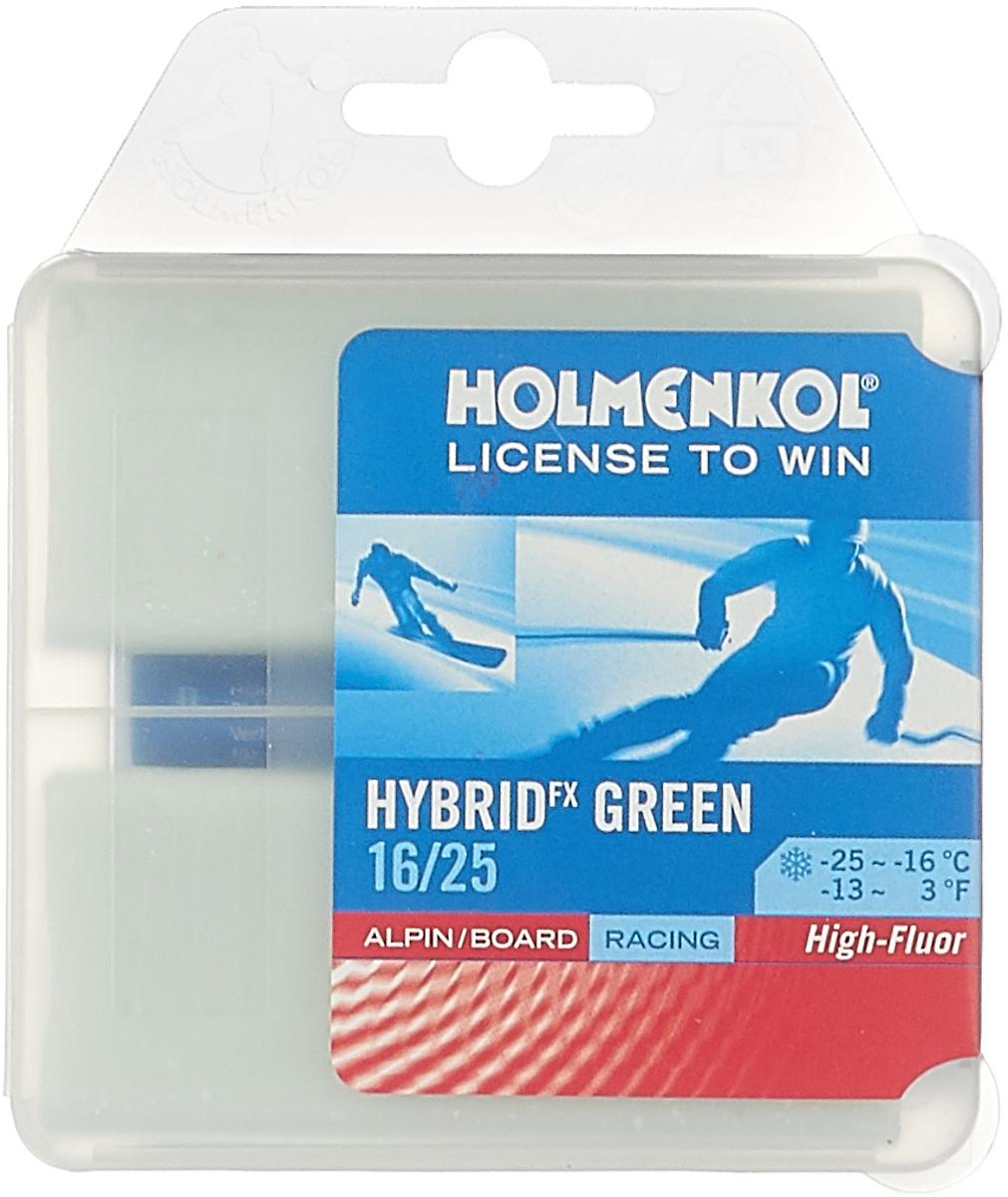 Парафин Holmenkol HF Hybrid Green, высокофторовый, -16…-25C, 2 x 35 г парафин holmenkol alphamix weltcup skiwax 1x150g желтый 150g