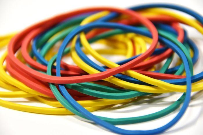 Резинки для купюр Silwerhof, цвет: мультиколор, 200 г резинки средние разноцветные 12 шт