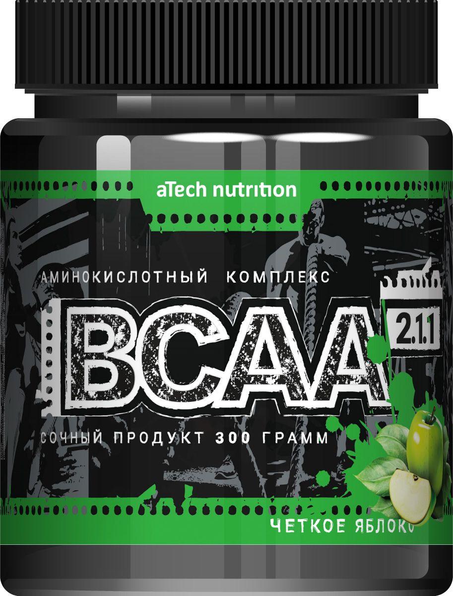 Комплекс аминокислотный aTech Nutrition BCAA 2:1:1, соковая основа, четкое яблоко, 300 г